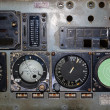 Stock Photo: Aviation instruments board