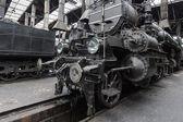 Garajda lokomotif — Stok fotoğraf