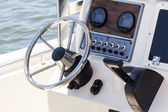 Cockpit of a motorboat — Stock Photo