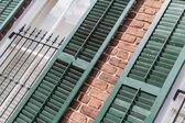 Georgian style window shutters — Stock Photo