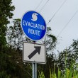 Evacuation route sign — Stock Photo #26930109
