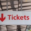 Tickets sign — Stock Photo