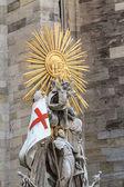 Catholic stone statue — Stock Photo