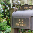 US metal mailbox — Stock Photo