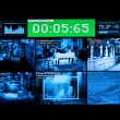 Monitor of pictures by surveillance cameras — Stock Photo