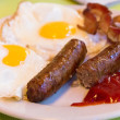 Sausage, bacon and fried egg — Stock Photo #37405529