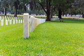 Tombstones on a military cemetery — Stock Photo