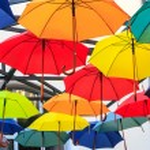 Colorful umbrellas — Stock Photo #37762947