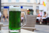 Green beer — Stock Photo