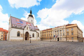 St. Mark church in Zagreb — Stock Photo