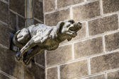 Gargoyle at the church of a tomb — Stock Photo