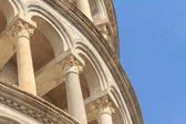 Detail of the leaning tower of Pisa — Stock Photo