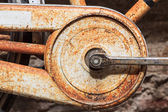 Rusty bottom bracket of a bike — Stock Photo