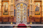 Iconostasis in St. Petersburg, Russia — Stock Photo