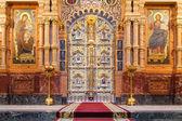 Iconostasis in St. Petersburg, Russia — Stock Photo