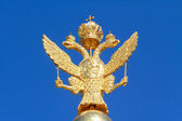 Russian golden double headed eagle — Stock Photo