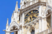 Detail of Zagreb's cathedral clock — Foto Stock