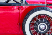 Oldtimer with spare wheel — Stock Photo
