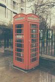 Retro London telephone booth — Photo