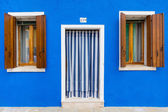 Blue building facade — Stock Photo