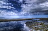 Plaj yansımalar — Stok fotoğraf