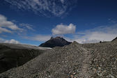 Trail naar de wortel gletsjer — Stockfoto