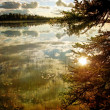 Alaskan lake in evening light — Stock Photo #12577869