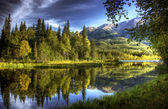 Aguas tranquilas en otoño — Foto de Stock