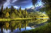 Wody jeszcze jesienią — Zdjęcie stockowe