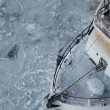Stock Photo: Fishing Boat in Ice