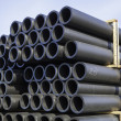 Stacks of plastic pipe — Stock Photo