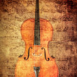 Cello with vintage textures — Stock Photo