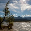 Sunburst over the Chilkat River — Stock Photo