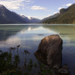 Chilkoot Lake reflections — Stockfoto