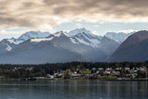 Haines Alaska with Storm Clouds — Stock Photo