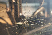 Cracked windshield — Stock Photo