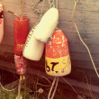 Old fishing buoys — Stock Photo #32676633