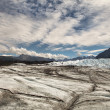Matanuska  glacier with clouds — Stock Photo