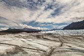 Matanuska Buzulu bulutlar ile — Stok fotoğraf