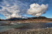 Chilkat River with clouds — Foto Stock