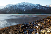 Chilkat Inlet Beach in early winter — Foto de Stock