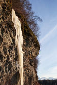 Ice fall with blue sky — Stock Photo