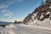 Mud Bay road in winter — Stock Photo