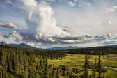 Yukon Wilderness with Clouds — Stock Photo
