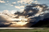Spring Sunset on the Chilkat Inlet — Stock Photo