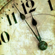 Vintage Grunge Clock Face — Stock Photo