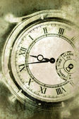 Vintage Grunge Clock Face — Stockfoto