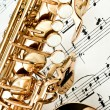 Stock Photo: Saxophone keys closeup