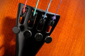 Violin tailpiece detail — Stock Photo