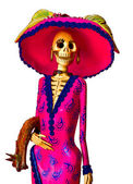 Catrina Day of the Dead Skeleton — 图库照片
